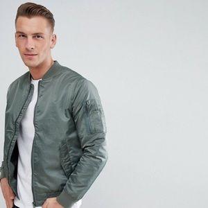 Brave Soul Gray bomber jacket